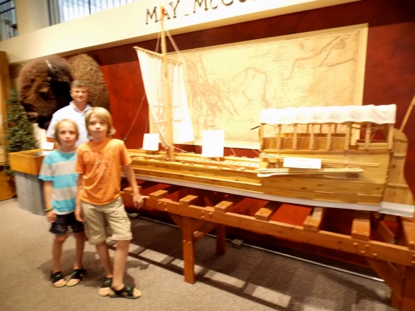 Logan made a smaller replica of this Louis & Clark keel boat as a school project last year in Mrs. Tacke's 4th grade class.