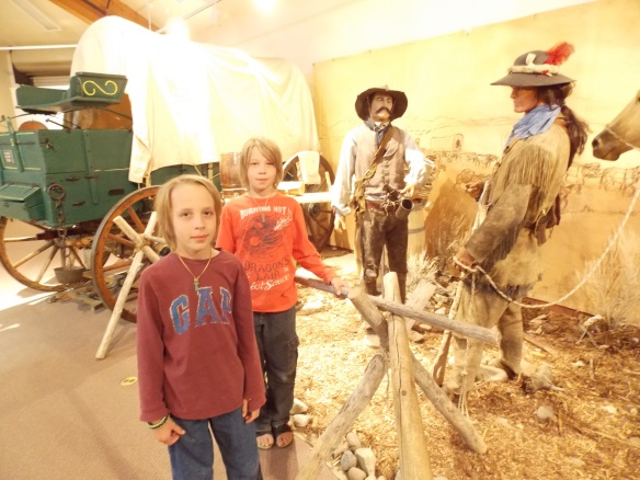 Cole & Logan at Mountain Man Museum.