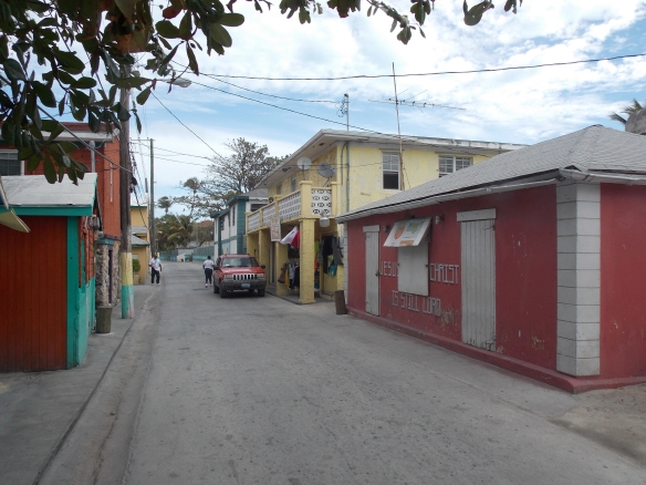 Main street of Alice Town on North Bimini.