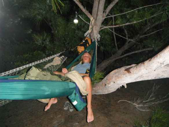 Cole & Mark camped out in hammocks on Stocking Island one evening.  Thanks for the hammock Petra!  It has been put to good use.