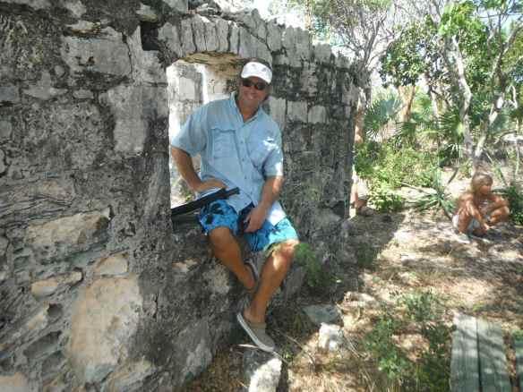 Mark at the plantation ruins.
