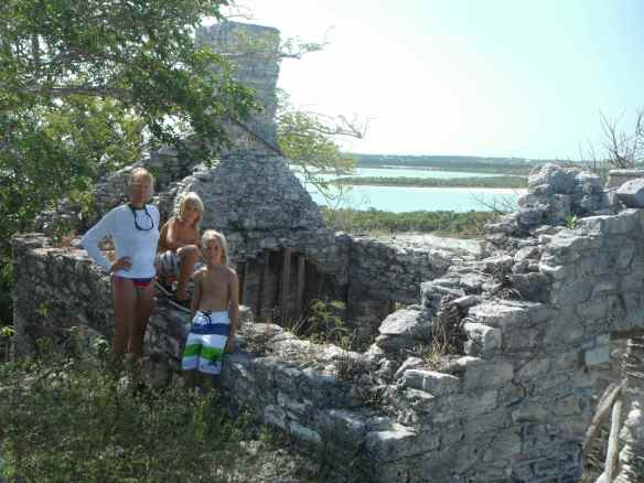 Ruins on Crab Cay left from the cotton plantation days.
