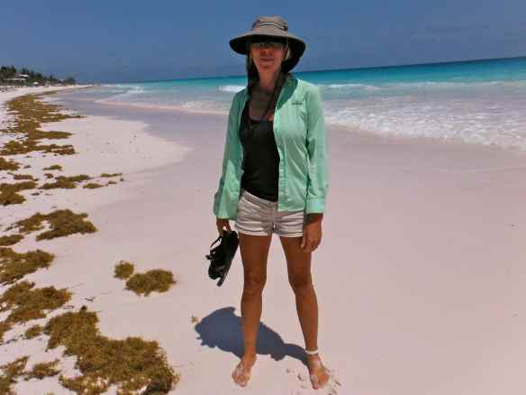 Pink sand beach Harbor Island.