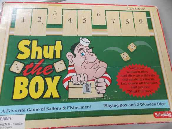 Shut the Box is one of our favorite boat games when guests come over.