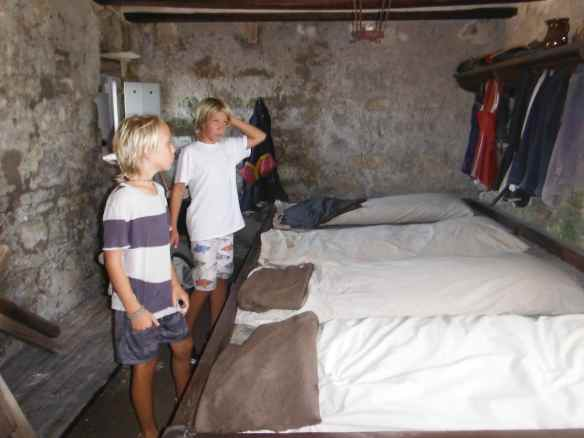 This is where the soldiers slept.