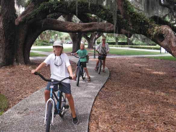 Riding bike on Jekyll Island.