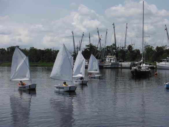 Kids sailing class in Georgetown harbor.
