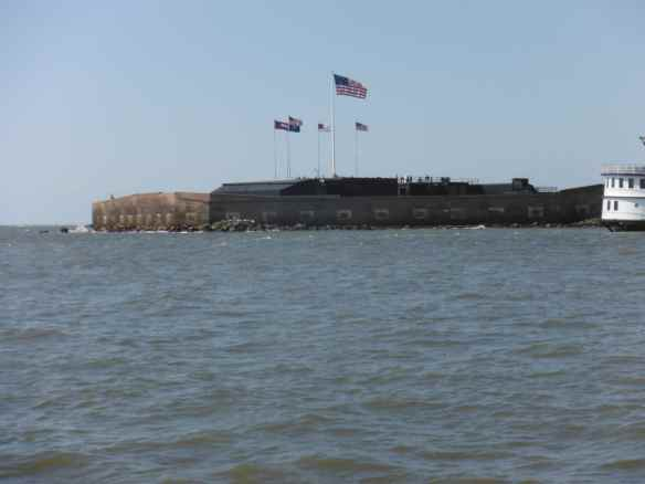 Fort Sumter in Charleston harbor.