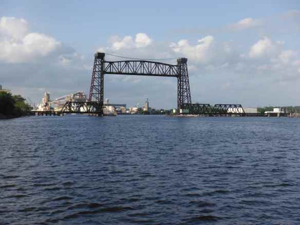 The first lift bridge we came to approaching Norfolk.