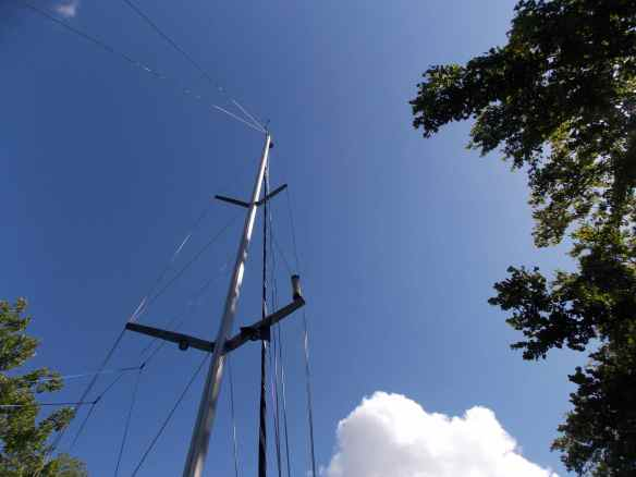 Watch the trees to clear your mast going through the narrow sections!