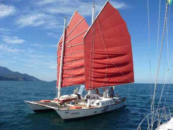Aorai, a catamaran built in Austria.