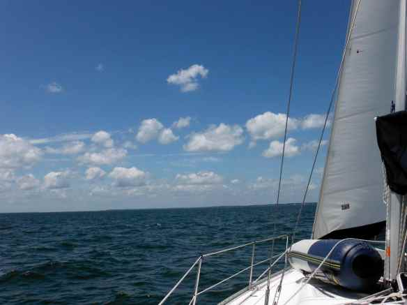 A beautiful day sailing Truansea across the Chesapeake Bay.