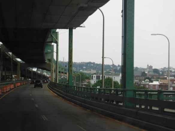 Boston's double decker bridge.