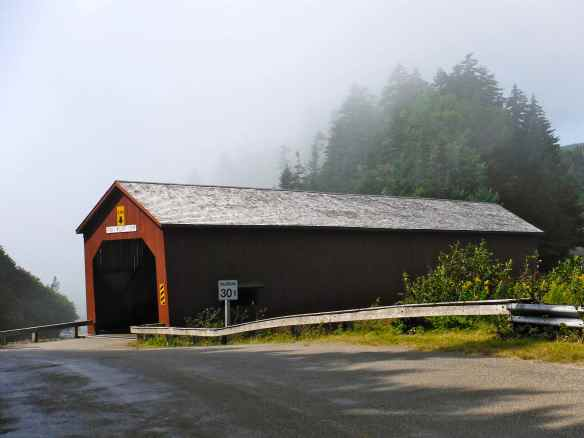 One of the many covered bridges we have encountered.