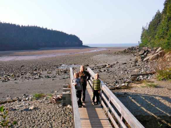 Low tide on the Bay of Fundy.