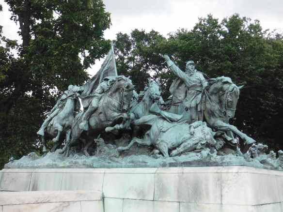 One of the beautiful statues in Washington DC.