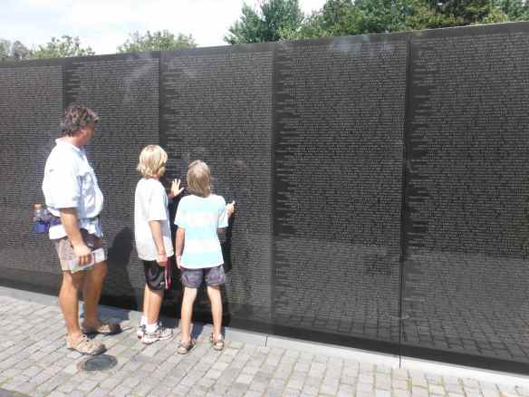 The Vietnam wall was very moving.  People pay their respects and leave everything from photos to motorcycles to honor those lost in the war.