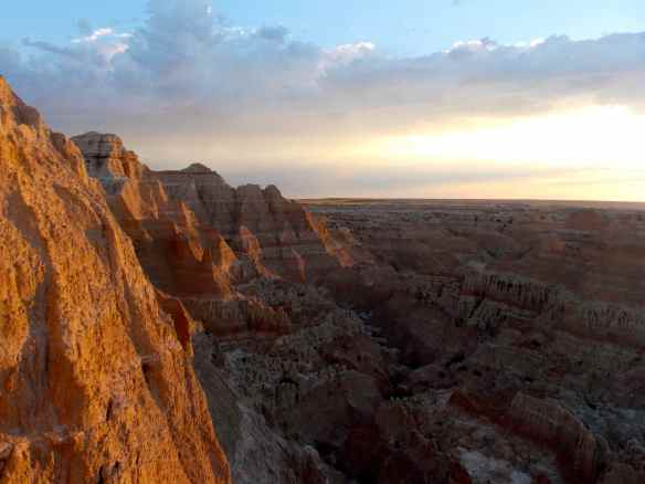Sunrise in the badlands SD.