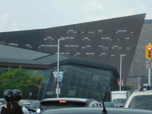 Windows at the War Museum in Ottawa are morse code, can you read the message?